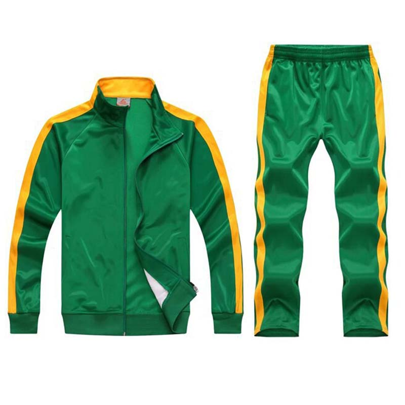 Image 3 - tracksuit men sport suits football training sweat suits school uniform jogging sportswear teengers track suits casual outfits-in Men's Sets from Men's Clothing