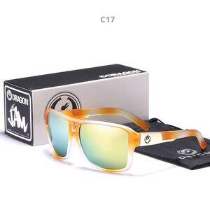 Image 4 - Mirrored lens Mannen Dragon Merk Ontwerp Rijden Vissen zonnebril Vierkante Glazen Voor Mannen UV400 Zomer Shades Eyewear