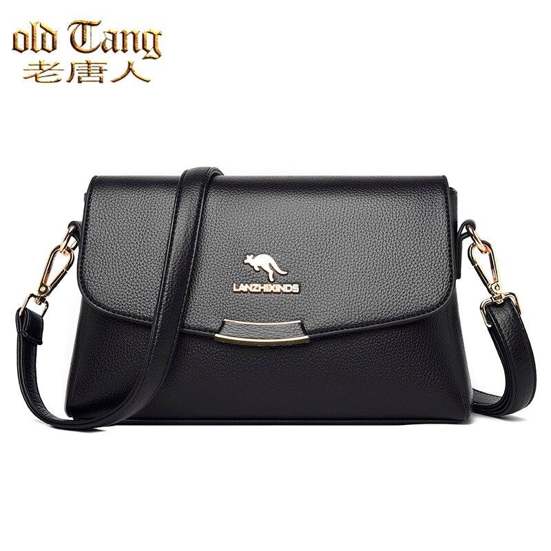 Высококачественные однотонные кожаные сумки через плечо для женщин, новинка 2021, роскошные дизайнерские сумки, женская сумка через плечо