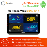 Ownice K1 K2 K3 K5 K6 2 Din Andriod 8.1 Car Radio Navigation for Honda Vezel 2015 2016 2017 GPS Head Unit 2G RAM 32G ROM 4G DSP
