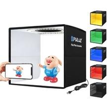24.5cm caixa de luz regulável toque mesa tiro fotografia estúdio lightbox tenda difusor softbox kit com 12 backdrops cor
