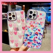Heart Case For Vivo Y20 Y20i Y20S Y12S Y50 Y30 Y11 Y12 Y13 Y15 Y17 V17 Neo V20 S1 Pro Y51 2020 Y31 2021 Y9S Love Soft Cover