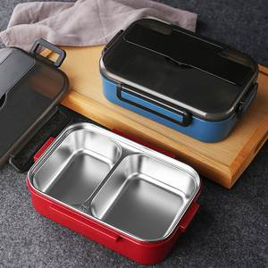 Lunch-Box Stainless-Steel Compartments Food-Containe Japanese-Style Kids Leakproof Portable