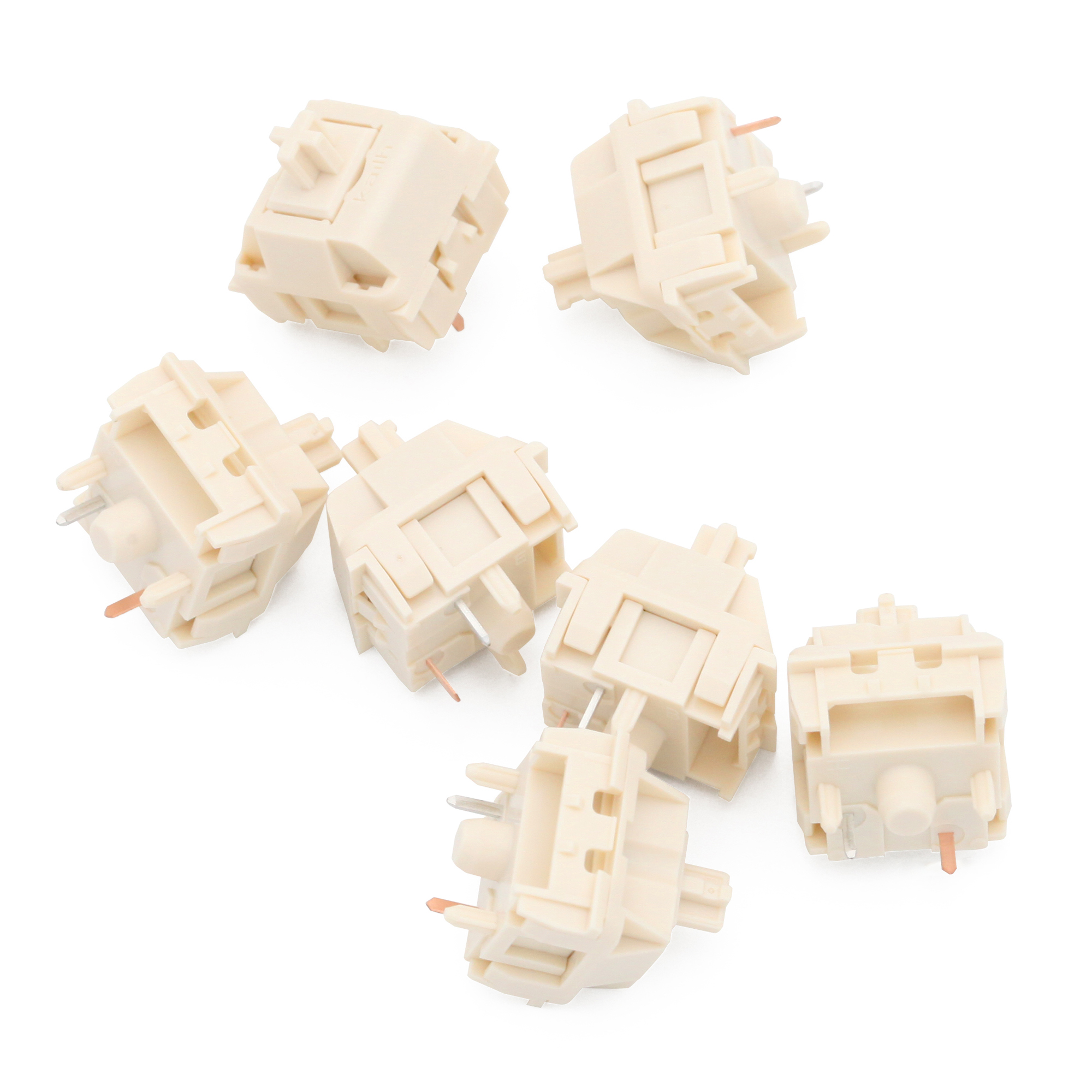 NovelKeys X Kailh Cream Switch 4pin 5pin RGB SMD Linear 55g Force 5pin Mx Clone Switch For Backlit Mechanical Keyboard 50m