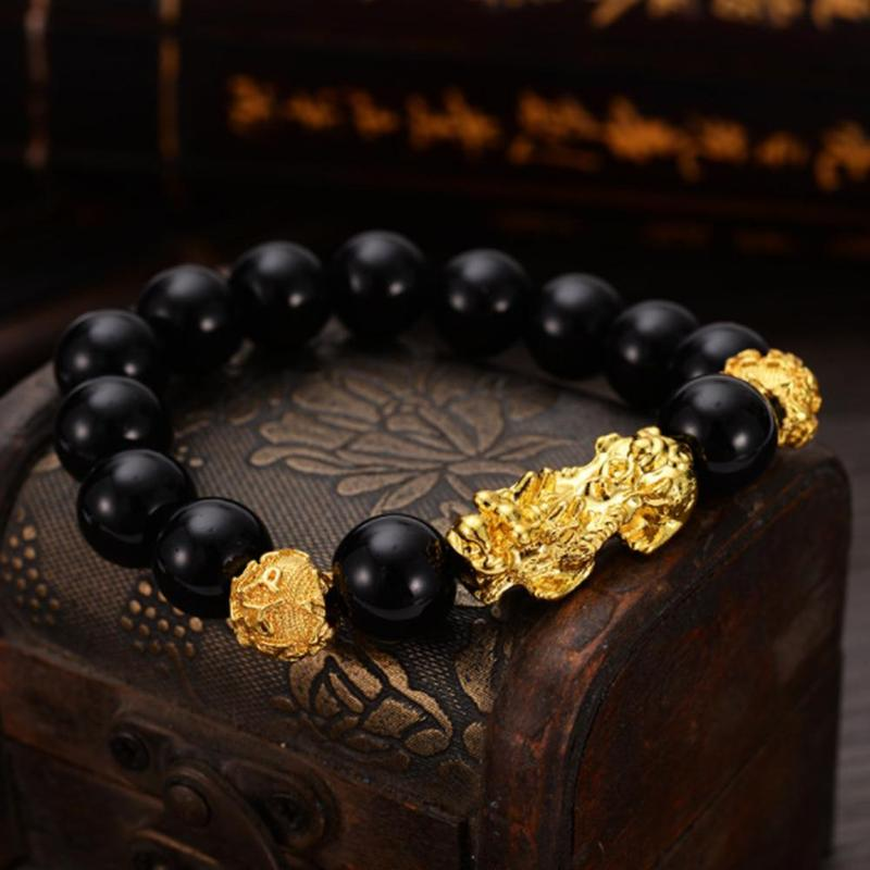 Brave Troops Beads PIXIU Bracelet for Women Men Beads Couple Bracelet Bring Lucky Brave Wealth Feng Shui Bracelets