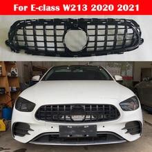 Auto styling Mitte grille für Mercedes Benz E klasse W213 2020 2021 AMG GT ABS kunststoff Silber Schwarz vorne auto Center Grille