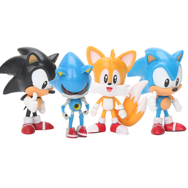 5sets Sonic Figures Toy Sonic The Hedgehog Sonic Tails Shadow Knuckles Tails Amy Super Sonic Pvc Action Figure Model Dolls Aliexpress