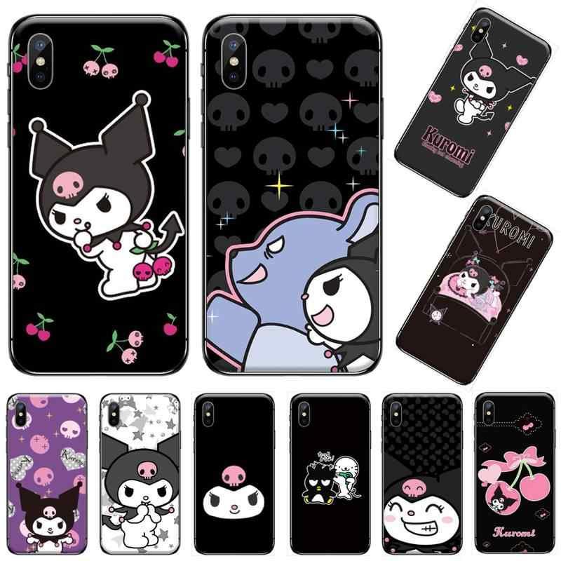 Kawaii Kuromi renkli karikatür Coque kabuk telefon kılıfı iphone 5 5s 5c se 6 6s 7 8 artı x xs xr 11 pro max