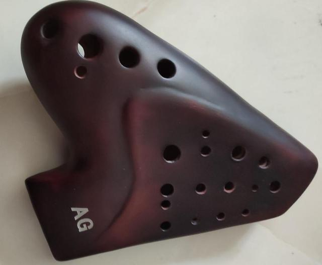 Great sound smoked burn three tubes 3 pipes AG ocarina multichamber flute alto G music instrument