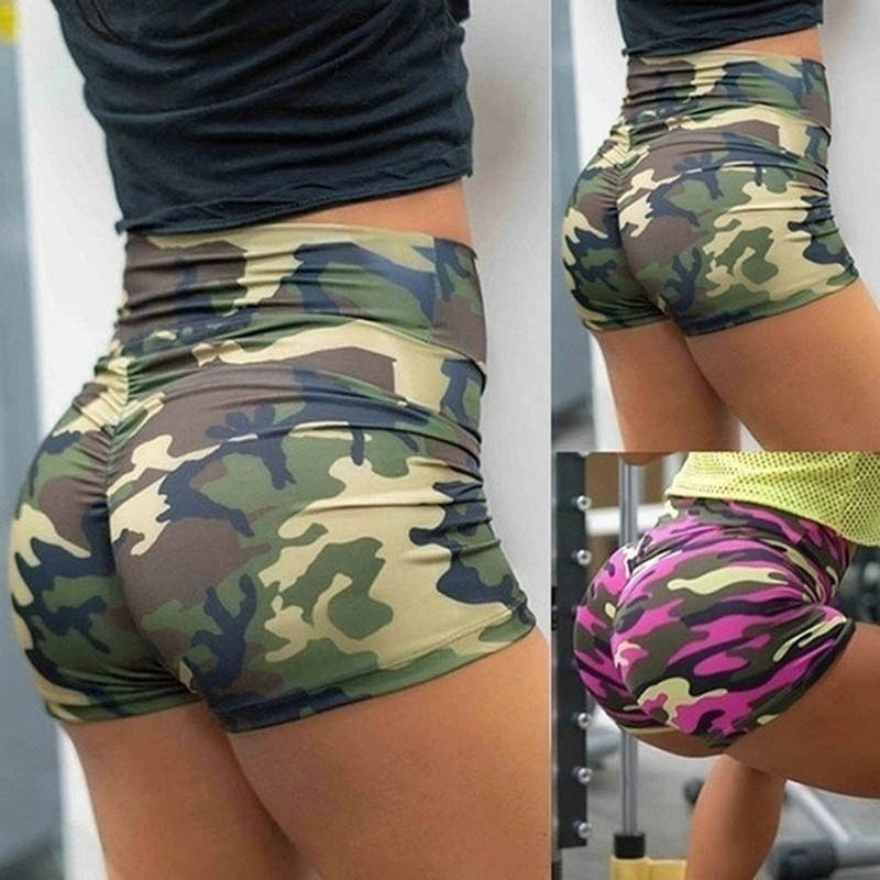 Hot Sale Sexy Ladies Shorts Women Camouflage Printed Hips Leggings Girls Sexy Hips Sweatpants
