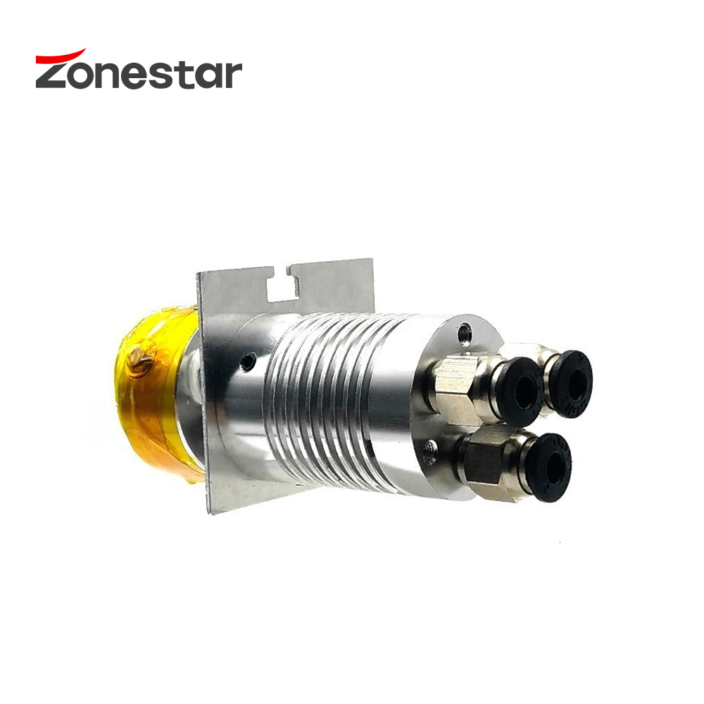 ZONESTAR 3-IN-1-OUT Hotend Nozzle 0.4mm 3D Printer Parts Extruder Feed Inlet Diameter 1.75 Filament With Heater Tube NTC Sensor