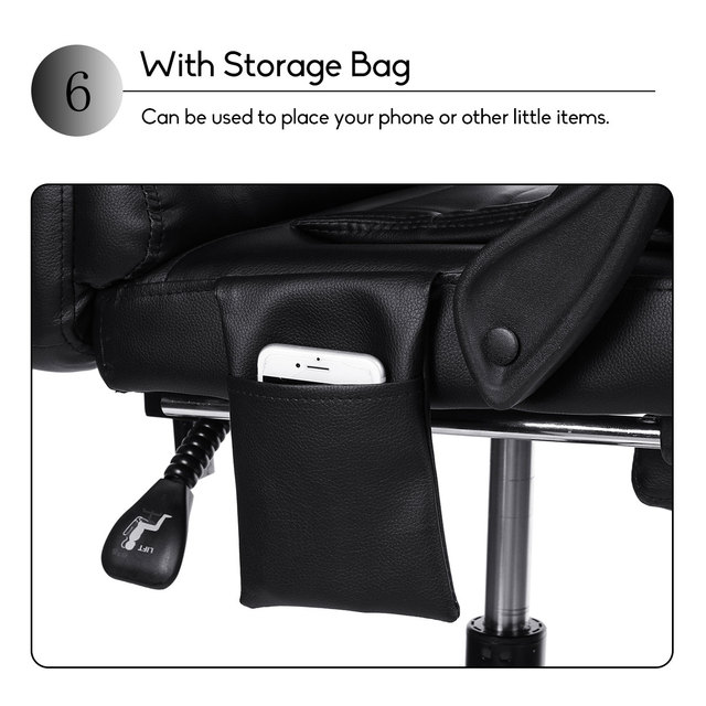 Computer Massage Chair With Footrest  3