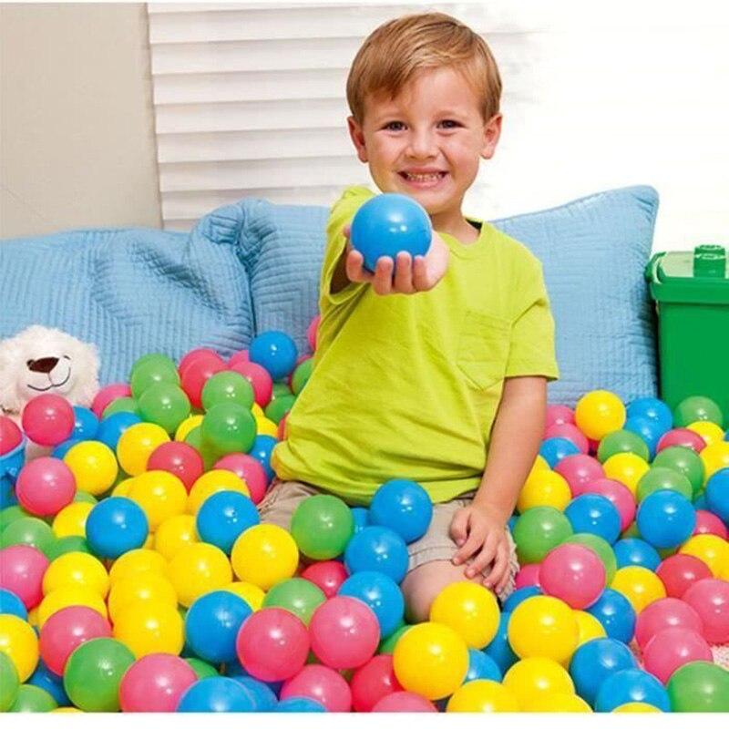 100 pçs eco-friendly colorido plástico macio água piscina oceano onda bolas bebê engraçado crianças brinquedos bola de ar diversão ao ar livre esportes venda quente