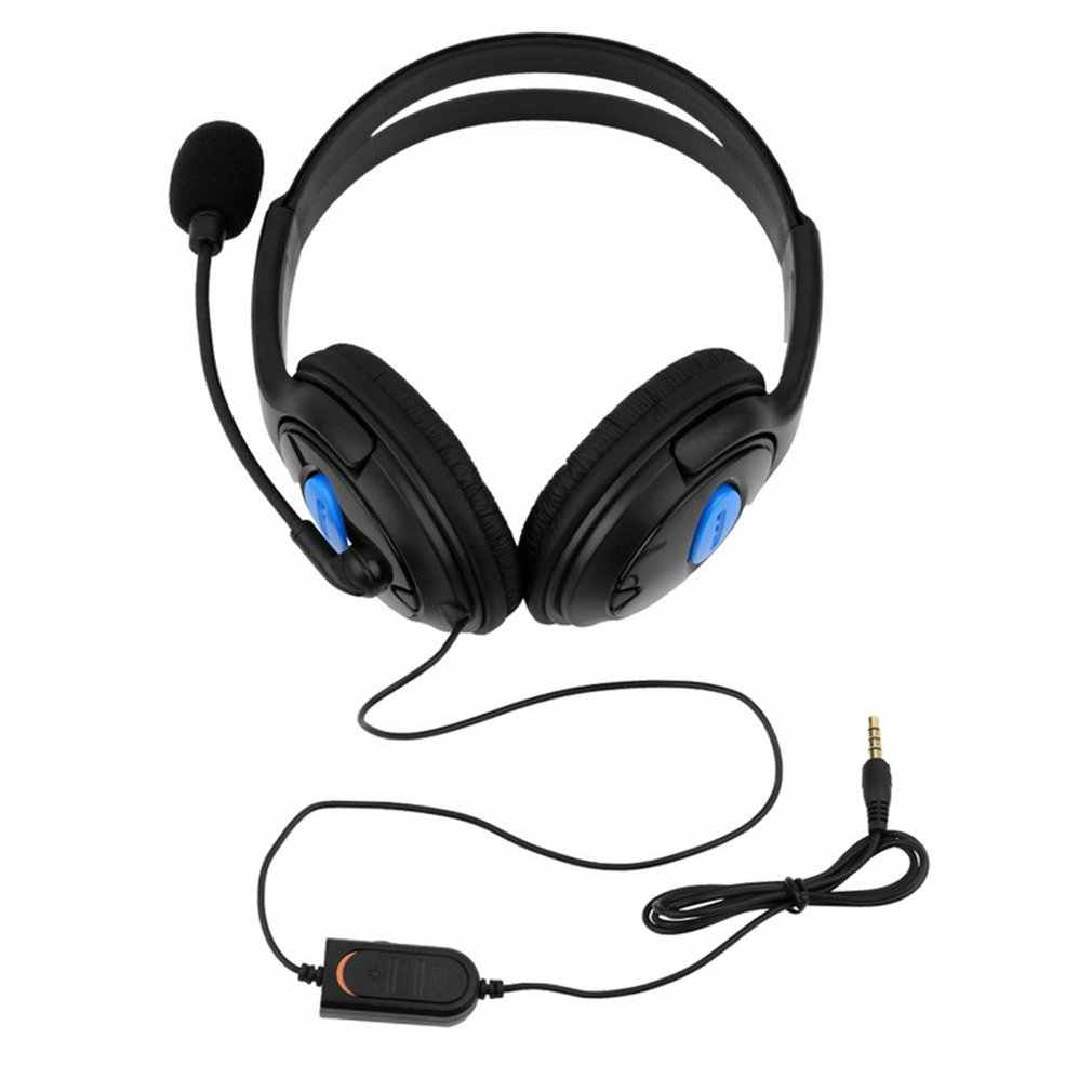 Wireless Stereo Headphones Over Ear Wired Bilateral Gaming Headset with Microphone Compatible for PS4 PC