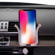 1 шт. Универсальный Автомобильный держатель для телефона с кристаллом Bing держатель на вентиляционное отверстие автомобиля Клип сотовый для IPhone samsung автомобильный держатель