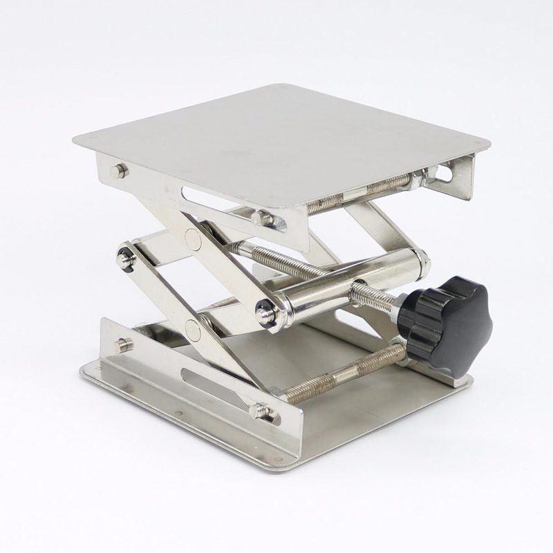 Metal Lift Lifting Stand <font><b>Lifter</b></font> Lab Platform For <font><b>Router</b></font> Bench Table 45~150mm New image