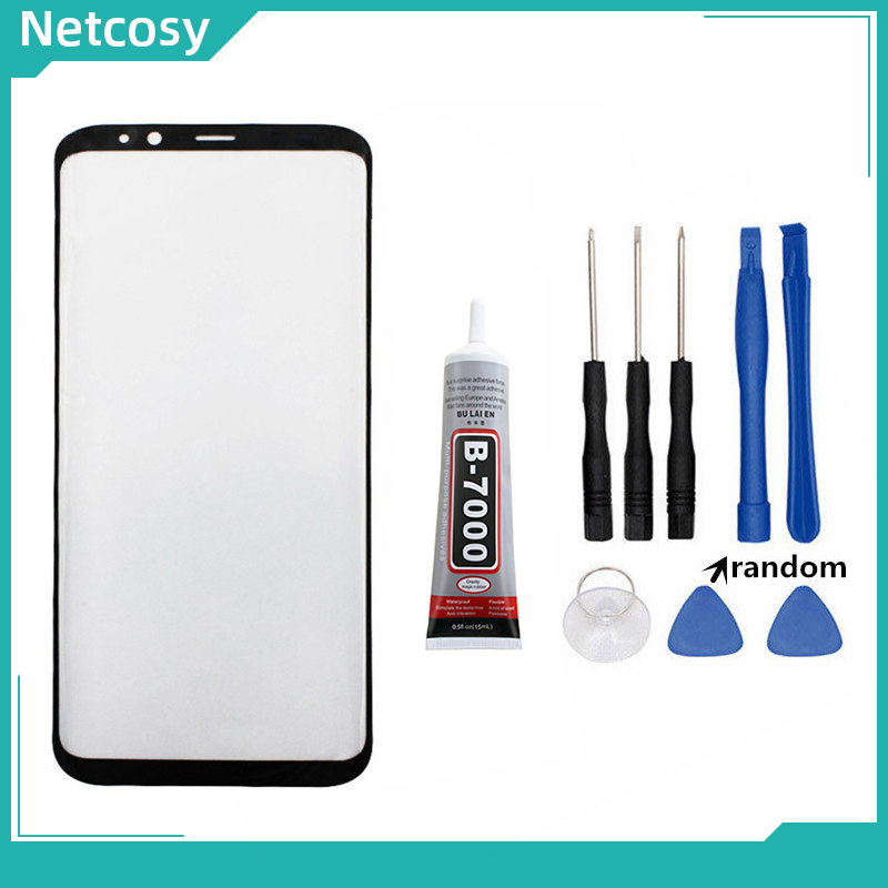 S8 S8 Plus S9 Note 8 Note 9 10 Front Outer Glass Lens Cover For Samsung Galaxy S10 S10 Plus LCD Glass & B-7000 15ml Glue & Tools