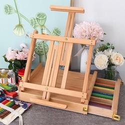 Libro de dibujo portátil para el caballete para artista, caja de pintura, caballete de pie de madera para dibujar pintura al óleo, mesa de pintura, suministros de arte, caballete