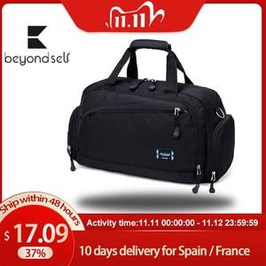 Image 1 - Gym Bags Men Sports Fitness Pack Cylinder One Shoulder Sport Bag Womens Handbags Travel Bags Nylon Waterproof Handbag Package