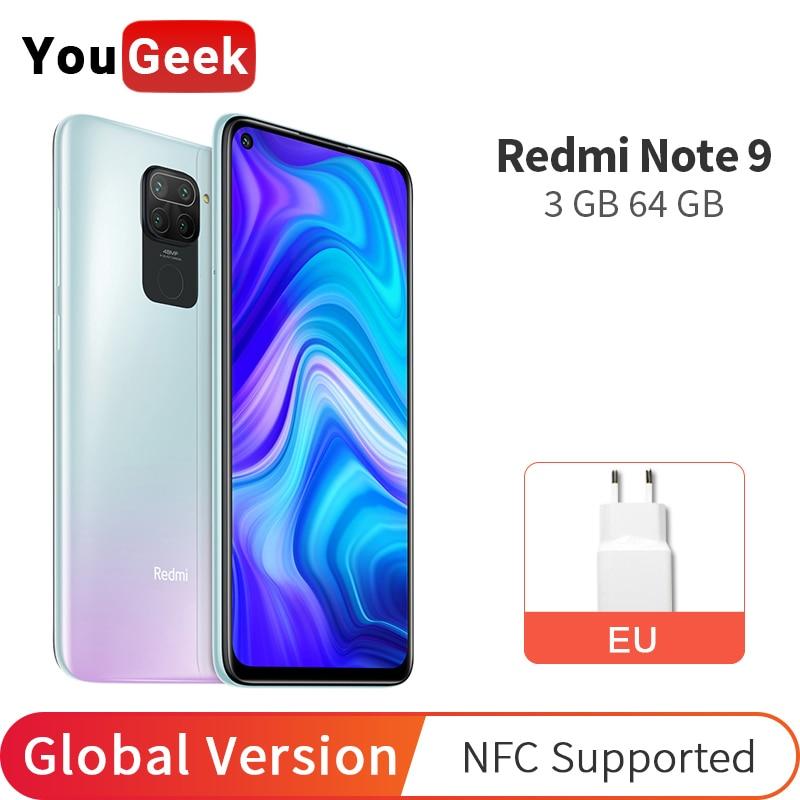 "Global Version Xiaomi Redmi Note 9 64GB 3GB Smartphone 48MP Four Camera MTK Helio G85 Octa Core 5020mAh Battery 6.53"" DotDisplay Смартфоны и мобильные телефоны      АлиЭкспресс"