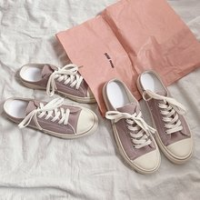 Classic purple Sneakers Women Casual Canvas Shoes Female Sum