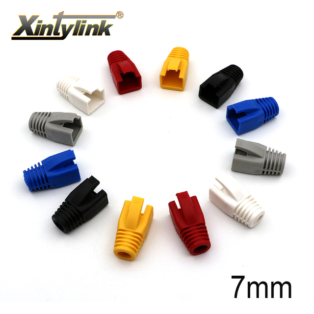 xintylink rj45 caps cat6 network boots rj 45 sheath cat6a cat5 cat5e color rg conector lan multicolour ethernet cable connector