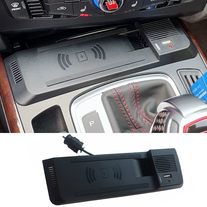 15W For Audi A4 B8 B9 Allroad A5 S5 RS5 car QI wireless charger phone fast charging plate holder accessories for iPhone8 charger