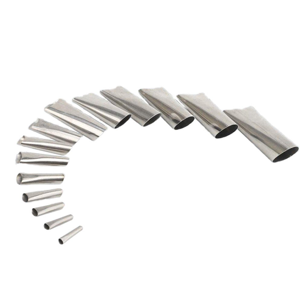 14 Pcs/set Glass Glue Gun Glue Mouth Stainless Steel Glue Mouth Hand Grinding Set 14 Pack Duck Type Glue Mouth