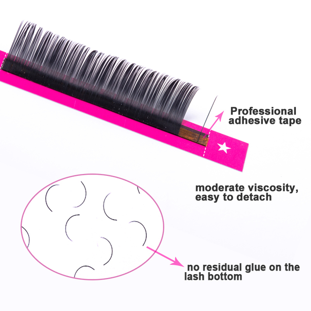 Lucky Lash 8~15mm and mix premium natural synthetic mink individual eyelash extension makeup cilia professional 3