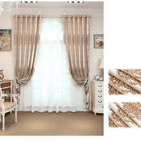 Cortinas para sala de estar, tul Ventana de dormitorio de alta precisión, Jacquard, Color café, de lujo, estilo europeo, personalizadas
