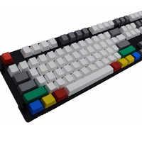 Teclado en blanco grueso PBT 9 teclas RGBY Color Keycap OEM altamente cereza MX interruptores teclas para Keycool/nopoo/Ducky/Filco Keycap