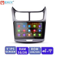 EKIY 9'' IPS Android 2 din Car Multimedia Radio Player Auto Stereo For Chevrolet Sail 2010 2013 GPS Navigation 4G Wifi Bt Video