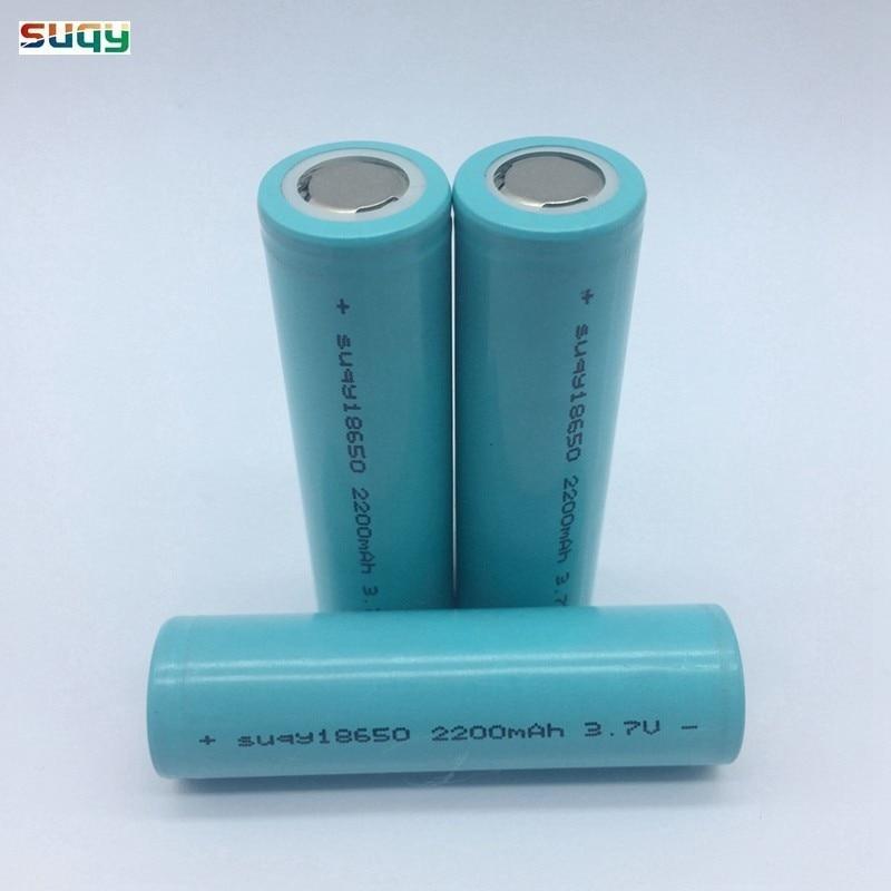 Suqy 1/2/3/4/6/8/10 pièces nouveau Li Ion 18650 Lithium Batteries rechargeables 18650 3.7v 2200mah Batteries rechargeables Avec Chargeur