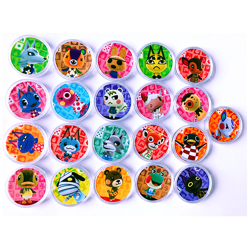 21pcs/lot Animal Crossing Coin NFC Game New Horizons Amiibo Card NFC Tag Lolly Lucky Merengue