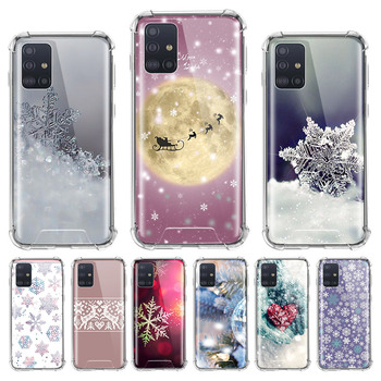 Christmas Snowflake Snowman Case for Samsung Galaxy A71 A51 M31 A41 A31 A21 A11 A01 M51 M21 M11 Airbag Anti Housing Phone Covers waves ocean water case for samsung galaxy a51 a71 m31 a41 a31 a11 a01 m51 m21 m11 m40 black soft phone cover fundas