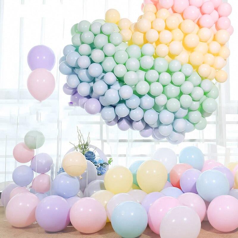 Quantidade múltipla 100 pcs globos balões Macaron Doce cor cadeia de fundo Do Casamento ou festa de aniversário Dos Miúdos decoração balão de Látex