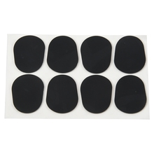 цена на 8pcs Alto/Tenor Saxophone Sax Mouthpiece Patches Pads Cushions Black---0.8mm