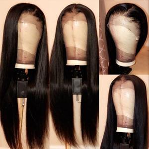 Image 4 - 13x4 רמי ישר תחרה מול שיער טבעי פאות אמיתי שיער טבעי פאה תוספות ליד לי עבור שחור מראש קטף עם תינוק שיער