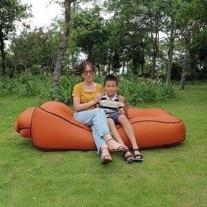 Image 2 - Tumbona inflable para la playa, a prueba de agua, antifugas de aire, para el hogar y el patio trasero