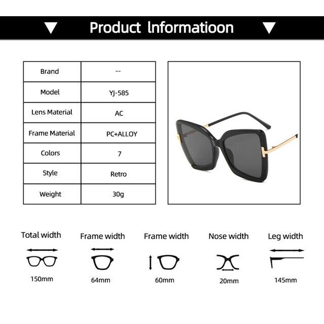 2020 большие солнцезащитные очки «кошачий глаз» женские новые фотография
