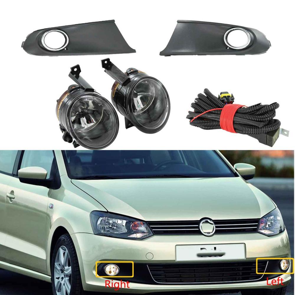Для VW Polo Vento Sedan седан 2011 2012 2013 2014 2015 2016, передний галогенный противотуманный светильник, противотуманная фара, решетка радиатора, сборка|Фара для авто в сборе|   | АлиЭкспресс