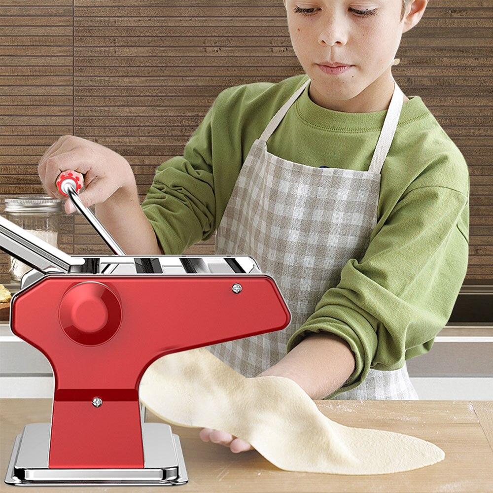 Edelstahl Manuelle Nudel Maker Hand Betrieben Spaghetti Pasta Cutter drücken maschine manuelle knödel wonton maschine