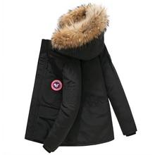 2019 Canada Jacket Down Coat Men Thick Warm Duck Down Hooded Natural Fur Collar Winter Jacket Women Down Jacket Windproof casaco все цены