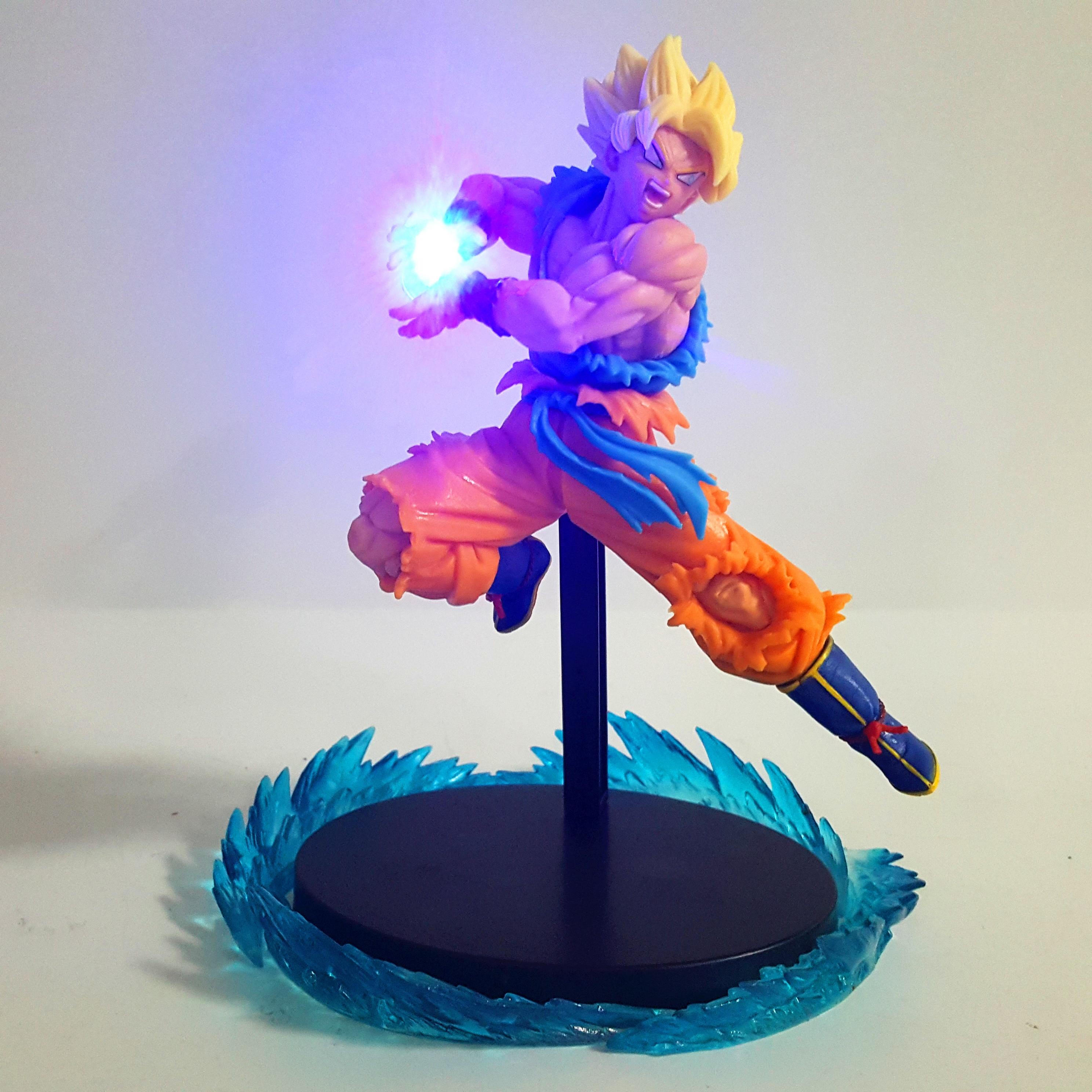 Dragon Ball Z Goku Super Saiyan 2 Kamehameha Led PVC Action Figures Dragon Ball Super Anime Son Goku Figurine DBZ Toy