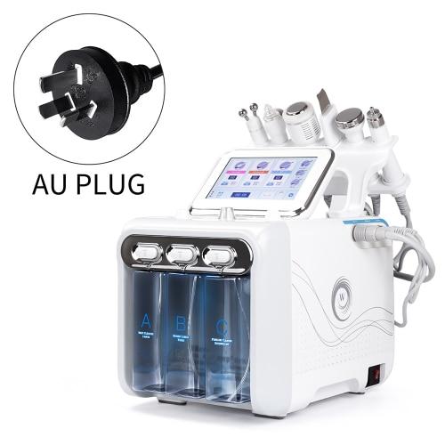 6 в 1 портативный гидро дермабразия уход за кожей красота машина вода кислородная струя гидро Алмазная пилинг микродермабразия - Цвет: AU Plug