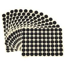 19 мм круглые кодовые наклейки самоклеющиеся клейкие этикетки черные