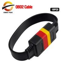 10 adet/grup OBDII 16Pin uzatma kablosu araç otomobiller OBD2 erkek kadın uzatma evrensel OBD araç teşhis kablosu