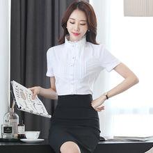 Корейская мода шифоновые женские блузки кружевные офисные рубашки