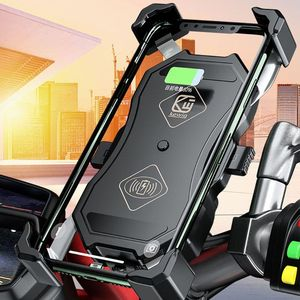 Image 3 - Waterdichte 12V Motorfiets QC3.0 Usb 15W Qi Wireless Charger Mount Houder Stand Voor Iphone 3.5 6.5 Inch mobiele Gps