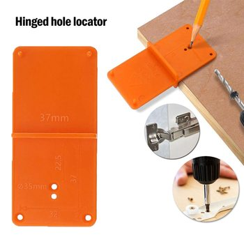 35/40mm Woodworking Punch Hinge Drill Hole Opener Locator Guide Drill Bit Hole Tools Door Cabinets DIY Template Woodworking Tool image